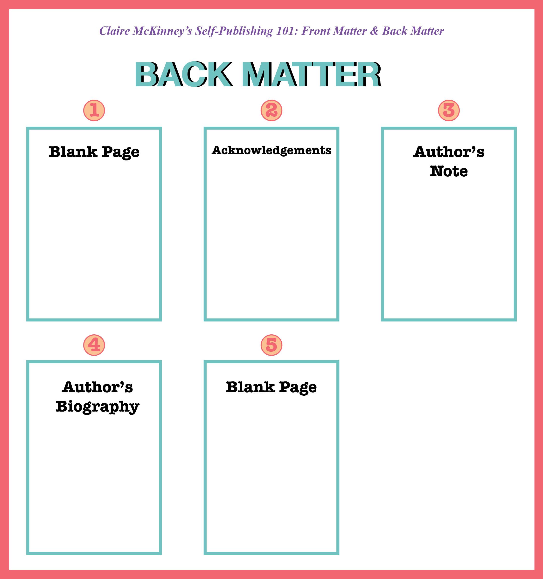 Back Matter